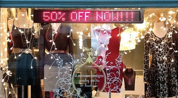 Indoor LED Window Signs